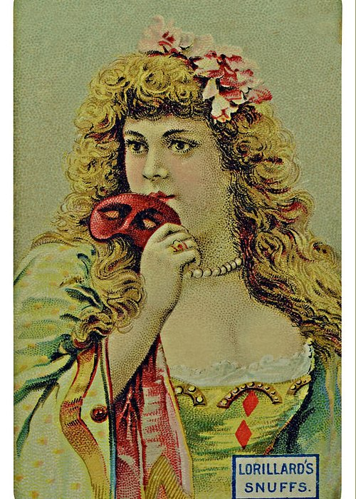 Card Greeting Card featuring the photograph Vintage Tobacco Or Cigarette Card by Susan Leggett