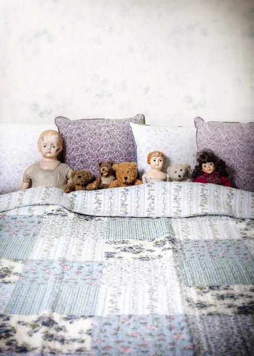 Doll Greeting Card featuring the photograph Vintage Toys by Joana Kruse
