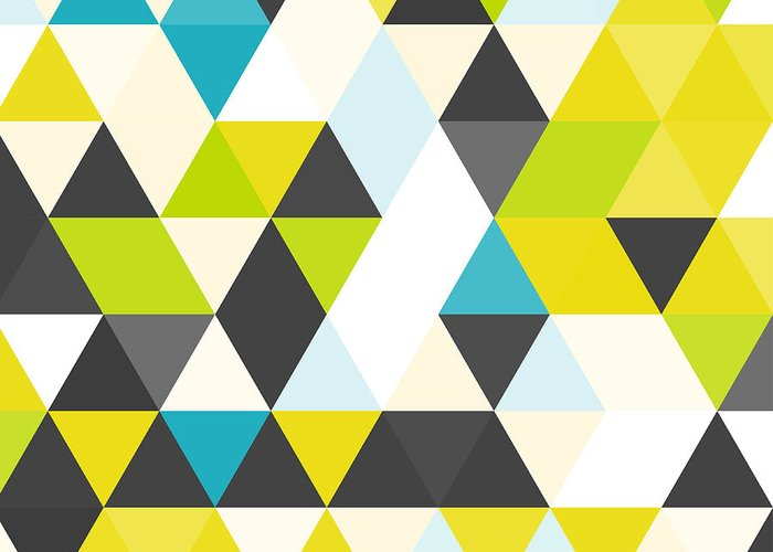 Bright Greeting Card featuring the digital art Vintage Triangle Pattern.geometric by Veronika M