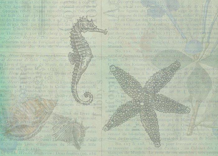 Sea Shell Digital Drawings Greeting Cards