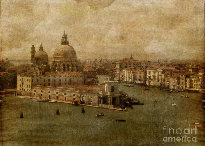 Venice Greeting Card featuring the photograph Vintage Venice by Lois Bryan