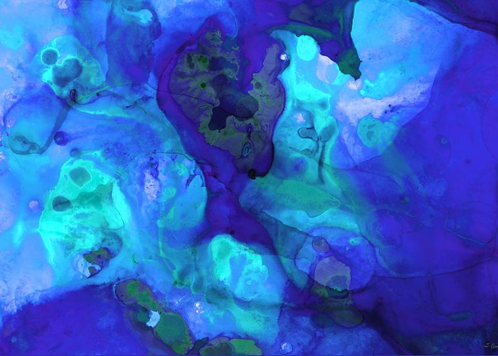 Blue And Purple Sea Greeting Cards