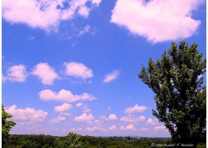 Clouds Greeting Card featuring the photograph Violet Edge by Kendall Kessler