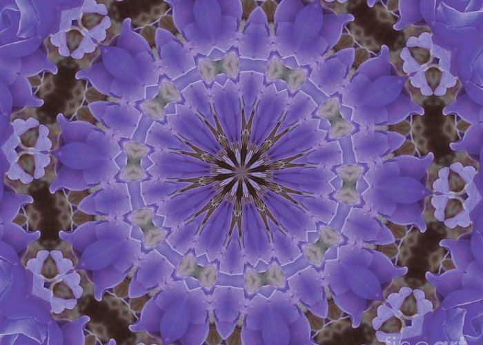 Kaleidoscope Greeting Card featuring the photograph Violet Garden by Lena Photo Art