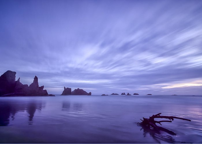 Purple Greeting Card featuring the photograph Violet Vista by Jon Glaser