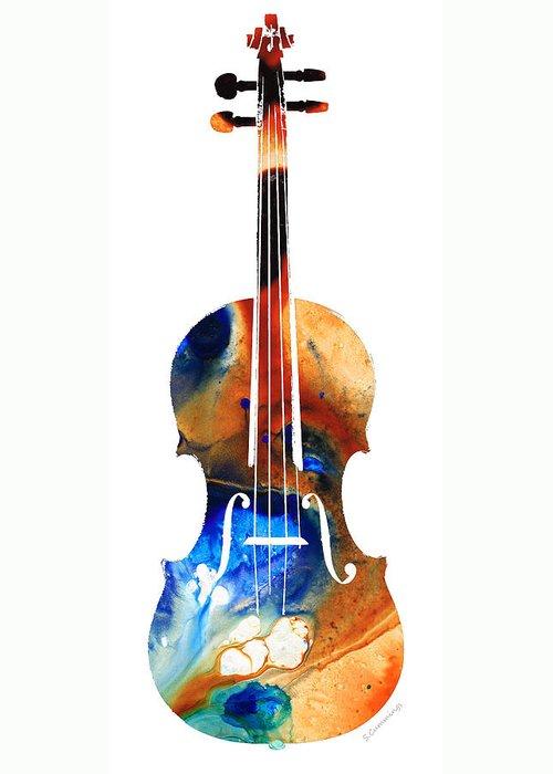 Violinist Greeting Cards