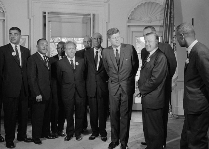 Civil Rights Greeting Card featuring the photograph Visionaries by Benjamin Yeager