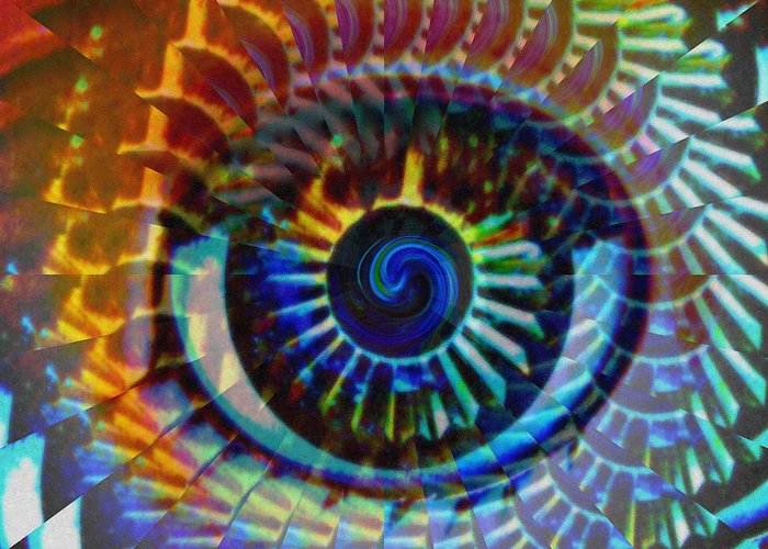 Hypnotic Abstract Greeting Cards