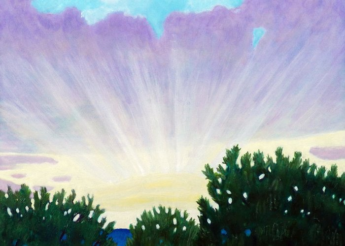 Skyscape Greeting Card featuring the painting Visionary Sky by Brian Commerford