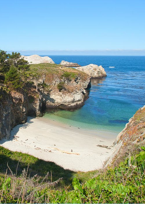 Point Lobos Greeting Card featuring the photograph Vista Of China Cove At Point Lobos State Reserve California by Artist and Photographer Laura Wrede
