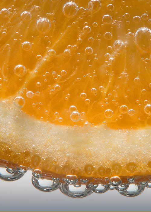 Orange Greeting Card featuring the photograph Vitamin C by Susan Candelario