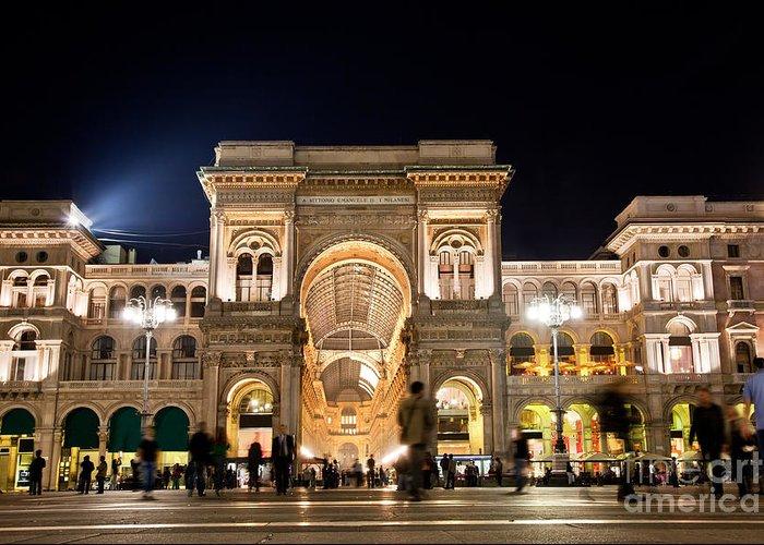 Milan Greeting Card featuring the photograph Vittorio Emanuele II Gallery by Michal Bednarek