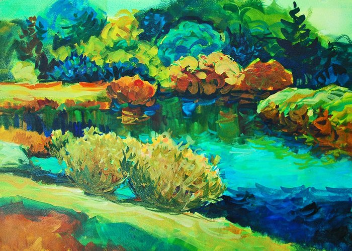 Landscapes Greeting Card featuring the painting Vivaldi's Summer by Roger Parent