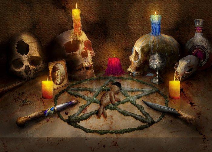 Pentagram Star Greeting Cards
