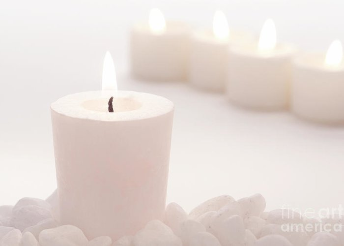 Votive Greeting Card featuring the photograph Votive Candle by Olivier Le Queinec