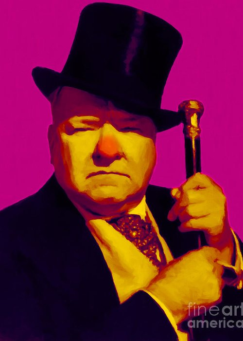 Wc Fields Greeting Card featuring the photograph W C Fields 20130217 by Wingsdomain Art and Photography