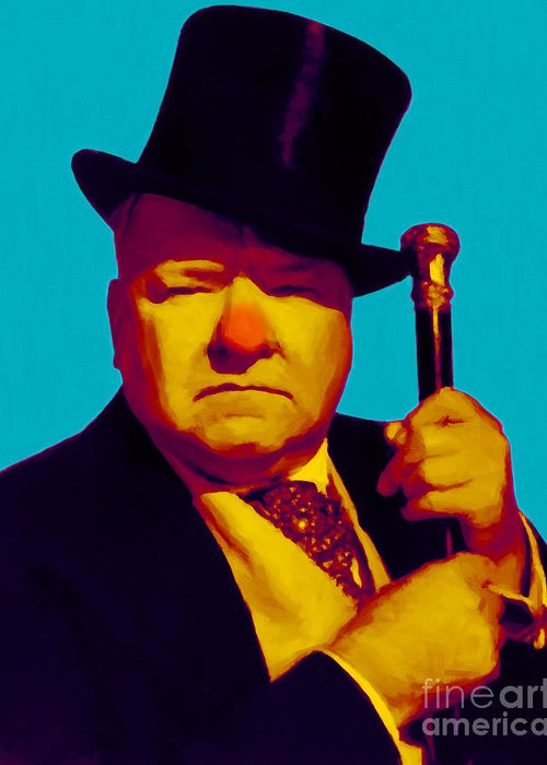 Wc Fields Greeting Card featuring the photograph W C Fields 20130217m135 by Wingsdomain Art and Photography