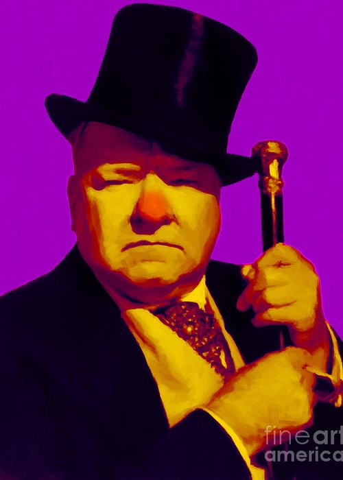Wc Fields Greeting Card featuring the photograph W C Fields 20130217m30 by Wingsdomain Art and Photography