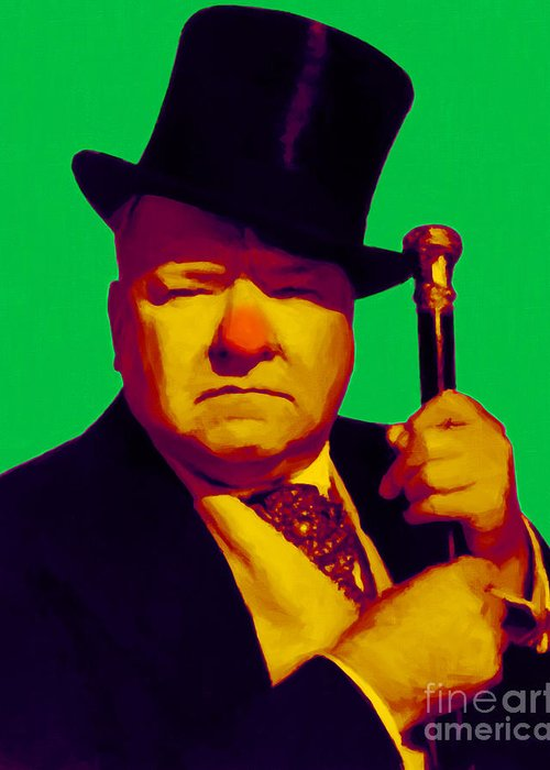 Celebrity Greeting Card featuring the photograph W C Fields 20130217p180 by Wingsdomain Art and Photography