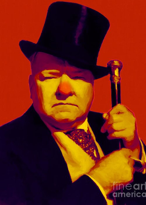 Wc Fields Greeting Card featuring the photograph W C Fields 20130217p50 by Wingsdomain Art and Photography