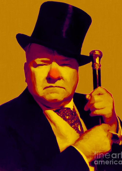 Wc Fields Greeting Card featuring the photograph W C Fields 20130217p80 by Wingsdomain Art and Photography