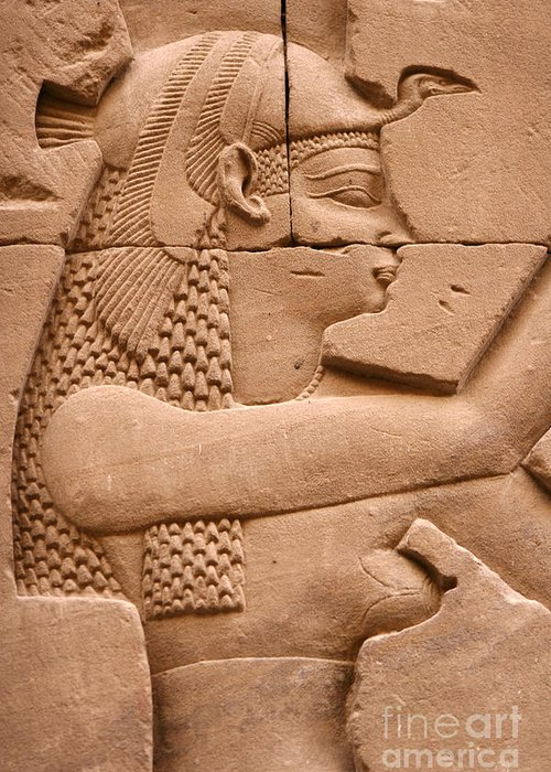 Relief Greeting Card featuring the photograph Wadjet by Stephen & Donna O'Meara
