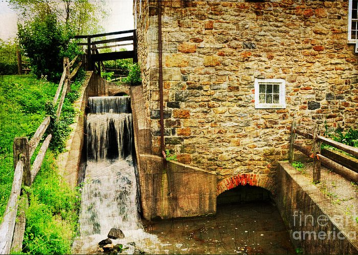 Mill Greeting Card featuring the photograph Wagner Grist Mill by Paul Ward