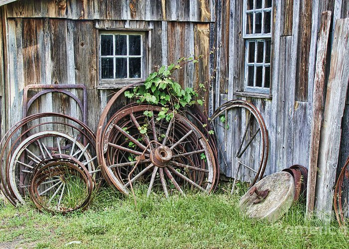 Wheels Greeting Card featuring the photograph Wagon Wheels In Color by Crystal Nederman