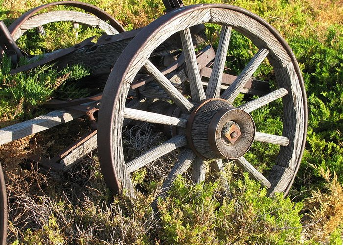 Transportation Greeting Card featuring the photograph Wagon Wheels by Steven Parker