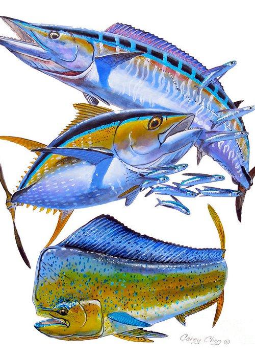 S Marlin Azul Greeting Cards
