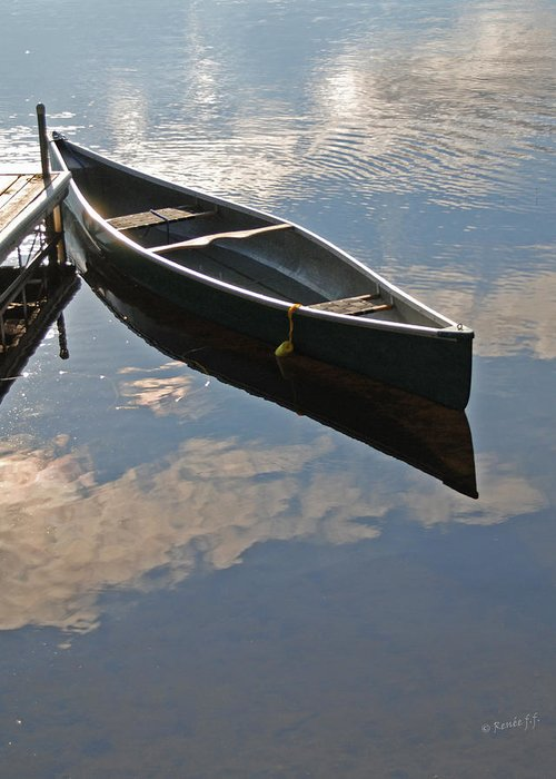 Canoe Greeting Card featuring the photograph Waiting Canoe by Renee Forth-Fukumoto