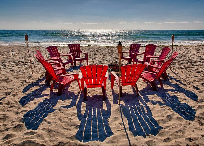 Beach Greeting Card featuring the photograph Waiting For The Party by Peter Tellone