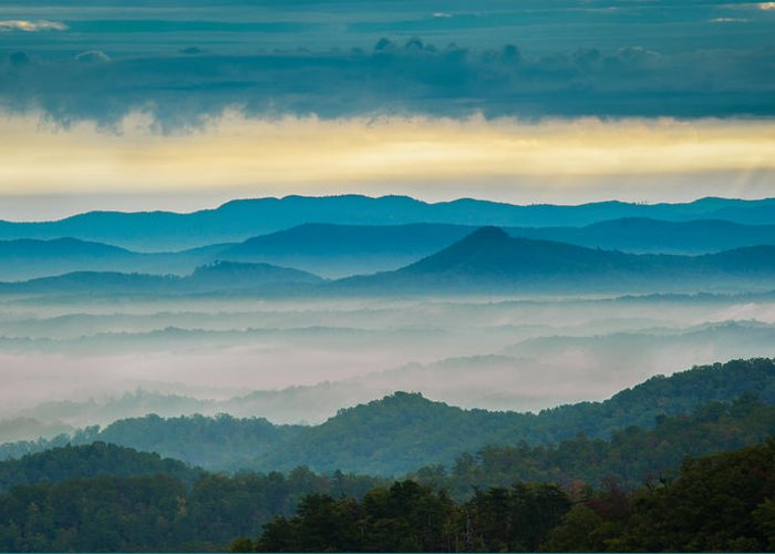 Asheville Greeting Card featuring the photograph Waiting For The Sun by Joye Ardyn Durham