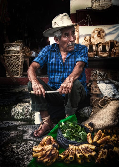 Cuetzalan Greeting Card featuring the photograph Waiting by Gerardo Borbolla