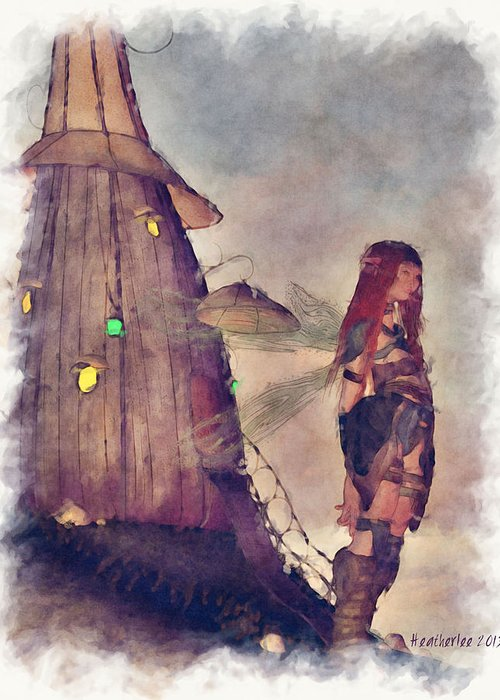 Fairy Greeting Card featuring the digital art Waiting by Heather Douglas
