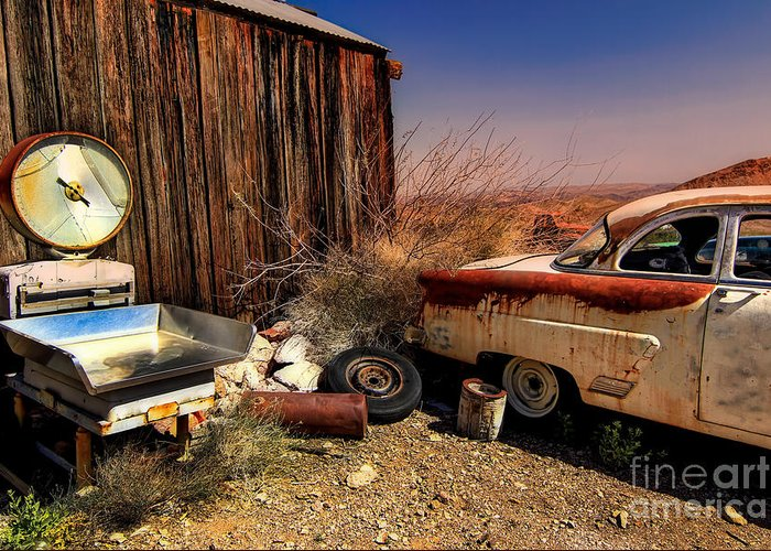 Car Greeting Card featuring the photograph Waiting on a Woman by Brenda Giasson
