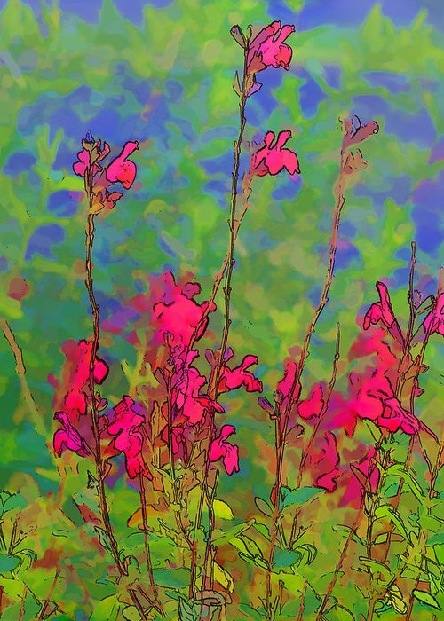 Nature Art Greeting Card featuring the photograph Wake Up Smell The Flowers by Linda Phelps