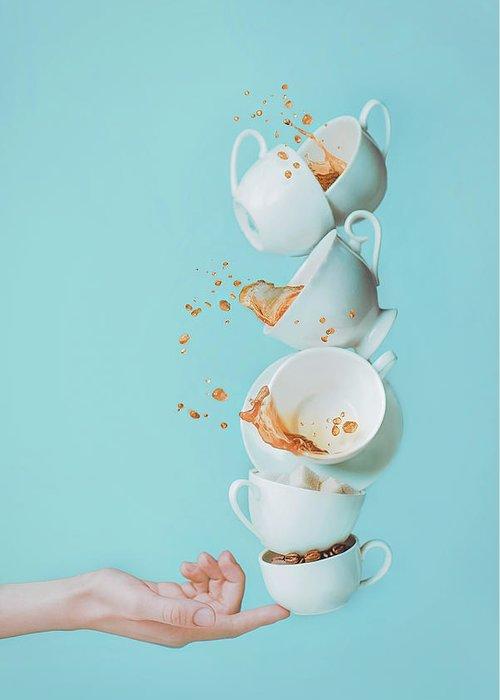 Balance Greeting Card featuring the photograph Waking Up by Dina Belenko