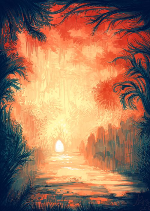 Outdoors Greeting Card featuring the digital art Walk Away by Illustrations By Annemarie Rysz
