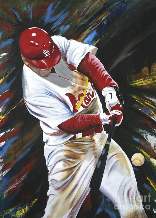 Baseball Art Greeting Card featuring the painting Walk Off by Terry Hester