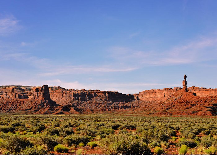 Valley Greeting Card featuring the photograph Walking In The Valley Of The Gods by Christine Till
