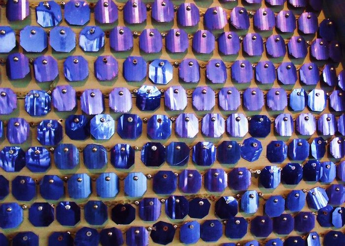 Blue Greeting Card featuring the photograph Wall Of Blue by Anna Villarreal Garbis