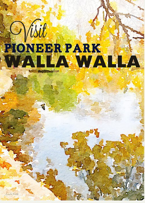 Pioneer Park Greeting Card featuring the painting Walla Walla by Linda Woods