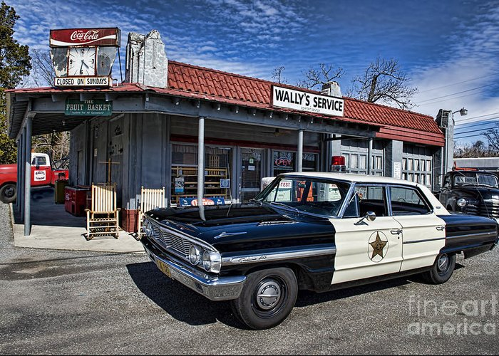Mt Airy Greeting Card featuring the photograph Wallys Service Station by David Arment