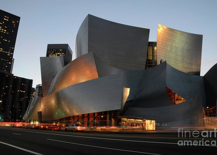 Bob Greeting Card featuring the photograph Walt Disney Concert Hall 21 by Bob Christopher