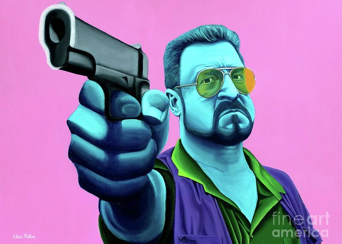 Lebowski Paintings Greeting Cards