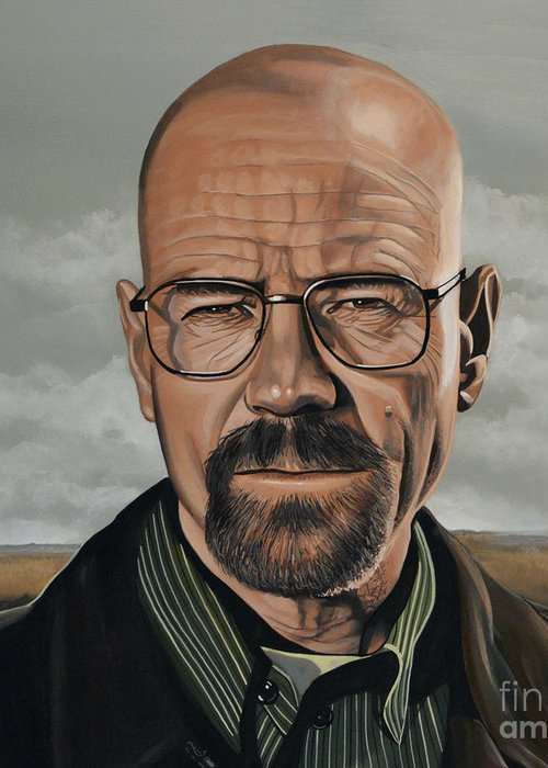Walter White Greeting Card featuring the painting Walter White by Paul Meijering