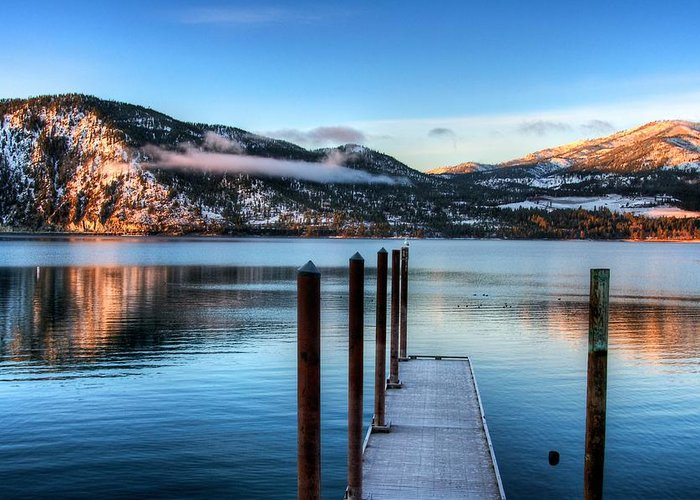 Lake Chelan Greeting Card featuring the photograph Wapato Point by Spencer McDonald