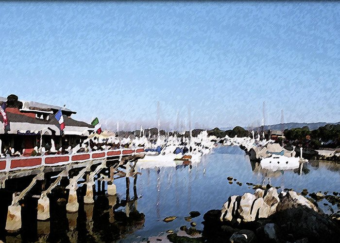 Warf Greeting Card featuring the digital art Warf And Marina by Christopher Bage