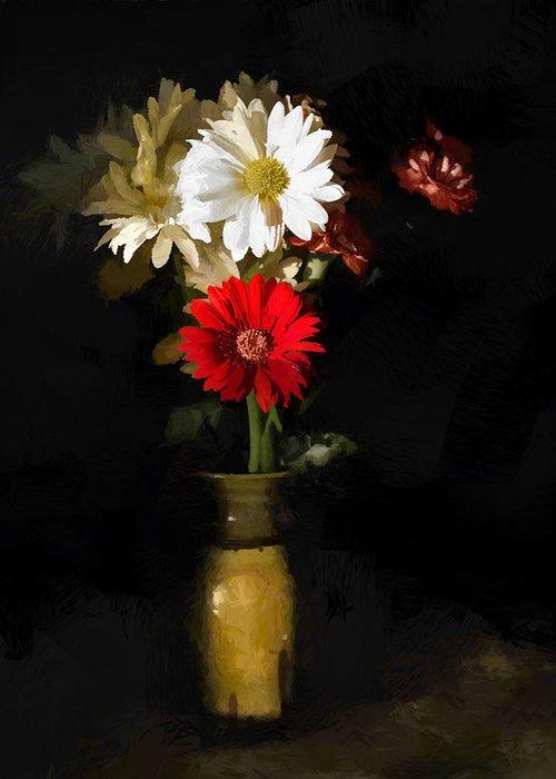 Flower Greeting Card featuring the digital art Warm Sun by Diane Dugas